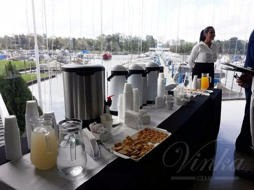 servicio de cafeteria p/ eventos empresarios y particulares