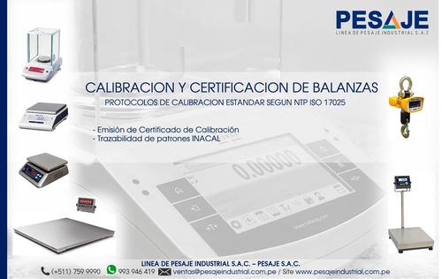 servicio de calibracion y certificacion de balanzas
