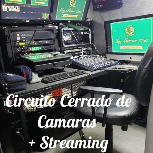 servicio de cámaras + trasmisión streaming video full hd