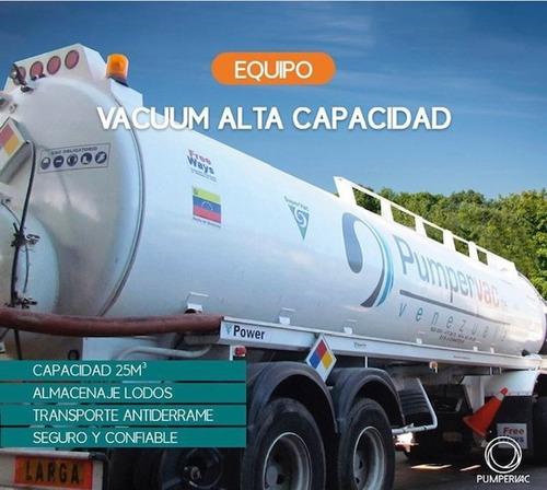 servicio de camion vacuum succión de desechos pumpervac