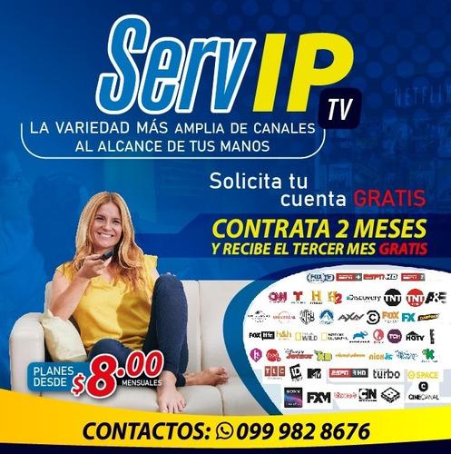 servicio de canales por internet iptv