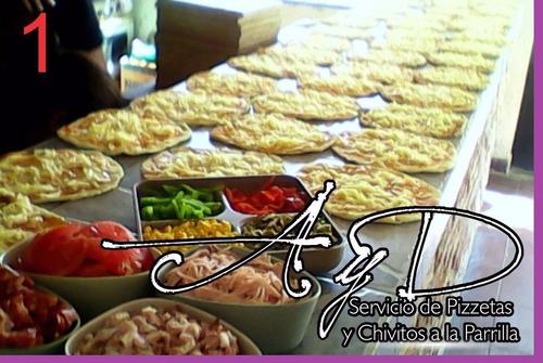 servicio de catering a y d pizzetas y chivitos a la parrilla