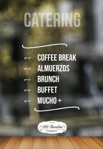servicio de catering almuerzo, coffee breaks etc