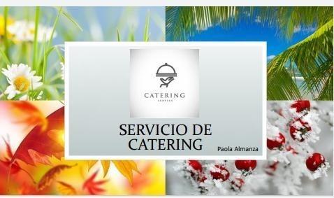 servicio de catering/ canapés/ bocadillos