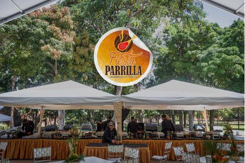 servicio de catering comida a la parrilla gourmet fiesta