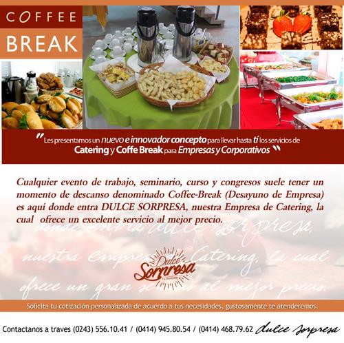 servicio de catering, desayunos, almuerzos, meriendas, etc