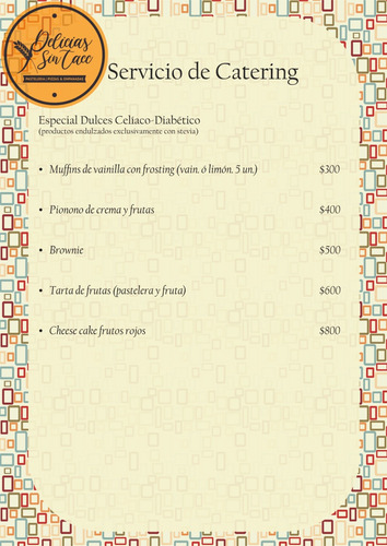 servicio de catering para celiacos.