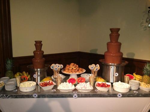 servicio de catering, parrilladas,alquiler  fuente chocolate
