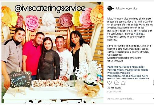 servicio de catering: pasapalos boda fiestas comidas