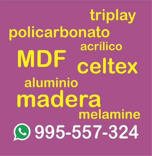servicio de corte cnc router, mdf, trupán, celtex, aluminio