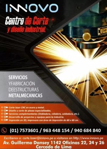 servicio de corte láser en acero y otros metales