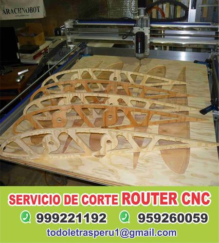 servicio de corte router cnc, mdf, trupán, acero y mucho mas