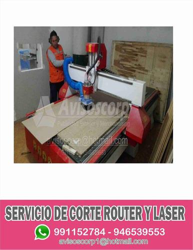 servicio de corte router cnc y láser  mdf acrílico metal