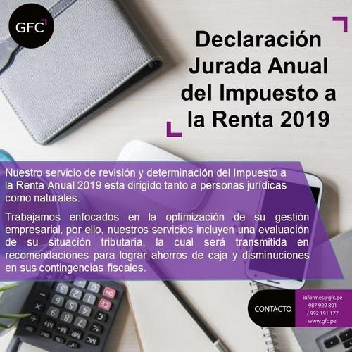 servicio de declaración jurada anual 2019