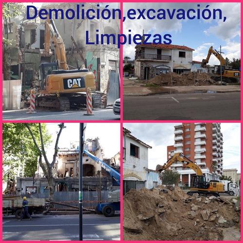 servicio de demolición y excavación y limpiezas