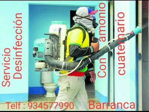 servicio de desinfección con amonio cuaternario