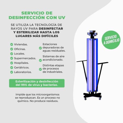 servicio de desinfección con uv y ozono