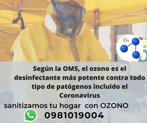 servicio de desinfección de ambientes con ozono