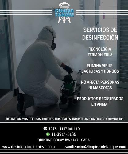 servicio de desinfección fumigación y sanitización