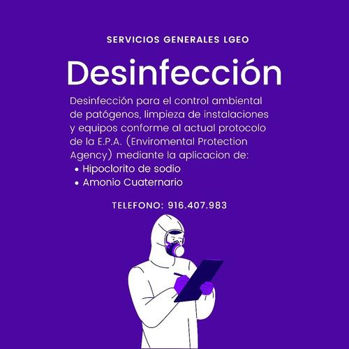 servicio de desinfección y limpieza
