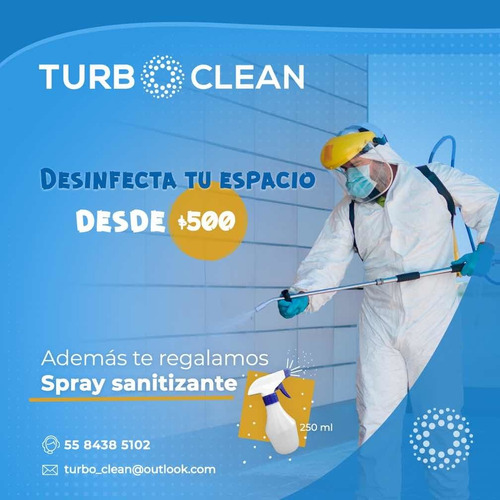 servicio de desinfección y sanitización de áreas