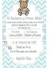 Servicio De Diseño De Tarjes De Invitaciones Para Bautizo