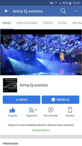 servicio de dj, iluminacion, karaoke y mini disco