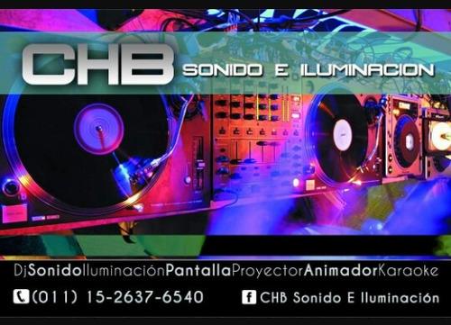servicio de dj, sonido, iluminacion,  karaoke y animador.