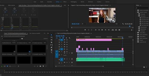 servicio de edición de video y animación