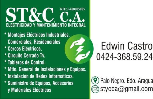 servicio de electricidad y mantenimiento