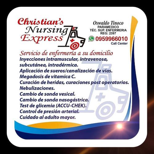 servicio de enfermería, primeros auxilios a domicilio