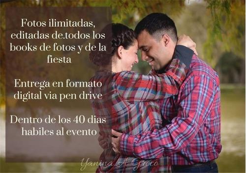 servicio de fotografia para bodas / casamientos