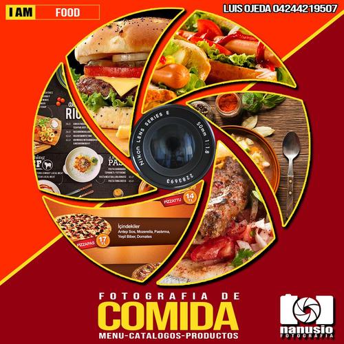 servicio de fotografía profesional / comida / menús / ropa