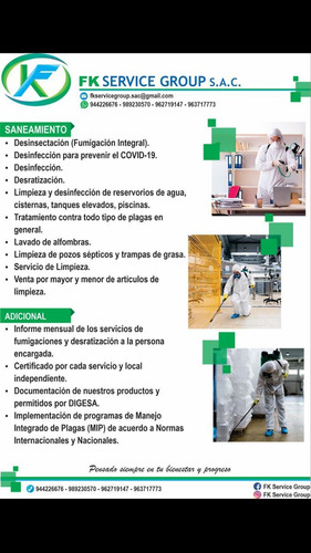 servicio de fumigacion en general, insectos, bacterias,virus
