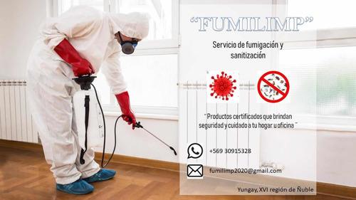 servicio de fumigación y sanitización