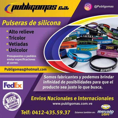 servicio de grabado pulseras silicon perzonalizadas pop
