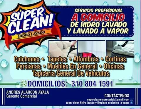 servicio de hidro lavado y lavado a vapor a domicilio