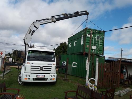 servicio de hidrogrua grua transportes de contenedores