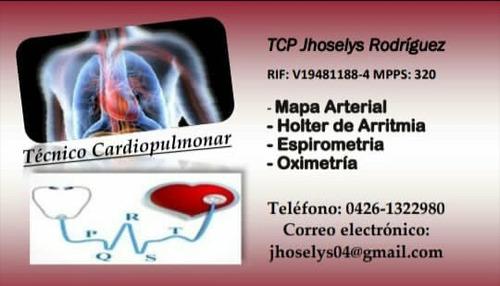 servicio de holter de ritmo, mapa arterial y espirometría