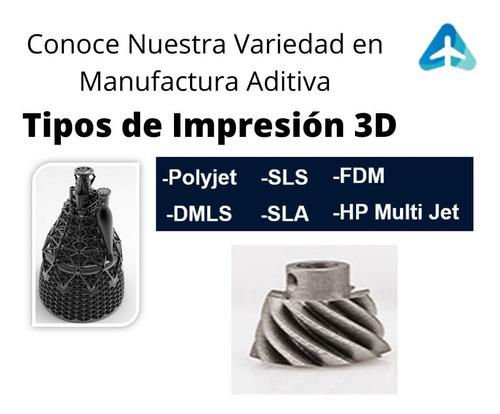 servicio de impresión 3d  (plásticos, metal y resinas)