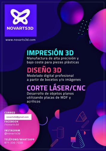 servicio de impresión 3d y modelado 3d express - novarts3d
