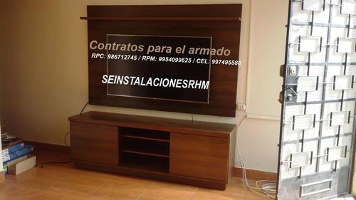 servicio de instalación de rack tv a domicilio/armado closet