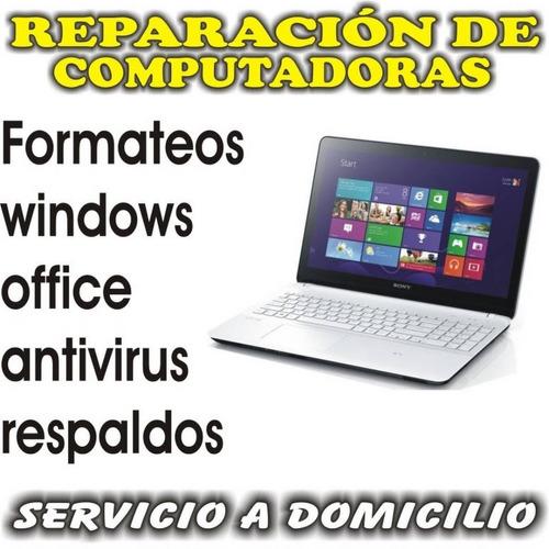 servicio de instalacion de windows 7 a domicilio