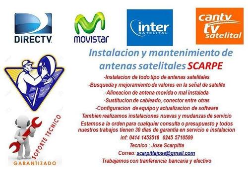 servicio de instalacion y busqueda de antenas satelitales