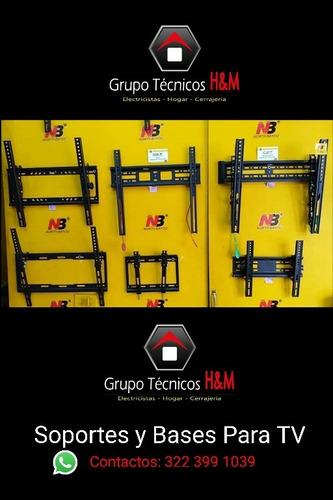 servicio de instalaciones de soportes para tv chía zipaquirá