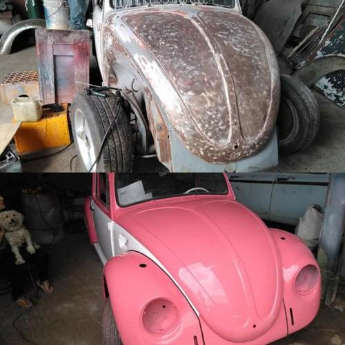 servicio de latonería y pintura, restauración de carros.