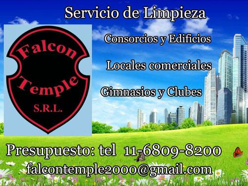 servicio de limpieza de edificios, oficinas y consorcios