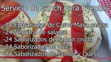servicio de lunch p/20 personas-catering,eventos, mesa dulce