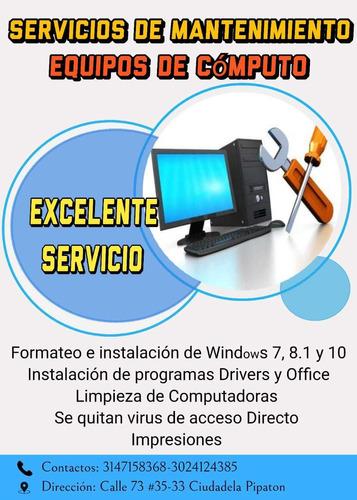 servicio de mantenimiento de equipos de computo