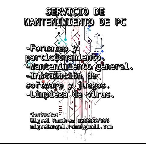servicio de mantenimiento de pc